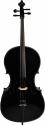 Steinbach 4/4 Cello im Set Hartholzgarnitur handgearbeitet schwarz