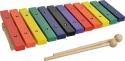 Steinbach Xylophon mit 12 Klangplatten bunt
