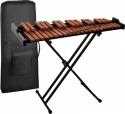 Steinbach Xylophon Set 37 Klangplatten braun Holz zweireihig mit Tasche und Ständer