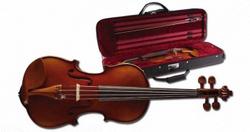Stagg VN-3/4 X 3/4 vollmassive Geige mit angeflammtem Boden im Deluxe Softcase
