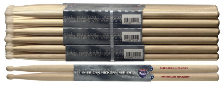 stagg shrock american hickory drumsticks holz tip rock preis f r 1 paar abverkauf rock. Black Bedroom Furniture Sets. Home Design Ideas