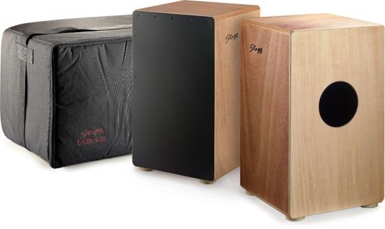 stagg caj 50 cajon mit tasche schwarzes schlagbrett cajon aus holz schwarzes schlagbrett bei. Black Bedroom Furniture Sets. Home Design Ideas