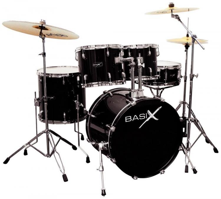Schlagzeug Basix Oxygen Set 1 Schwarz 22 Zoll Schlagzeug