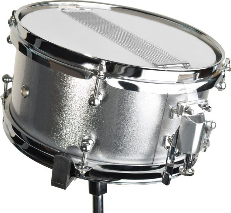 steinbach snare drum 10x5 zoll f r kinderschlagzeug silber inkl st nder sjsd 105 s snare drum. Black Bedroom Furniture Sets. Home Design Ideas